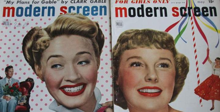 Two Modern Screen covers from my collection. Perhaps these were two of the issues that my grandma anxiously awaited the arrival of! (Photograph by Lindsey for TMP)