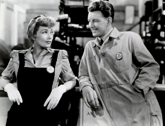 Ann with Fred Brady in one of her films, Swing Shift Maisie (1943) (Image: Doctor Macro)