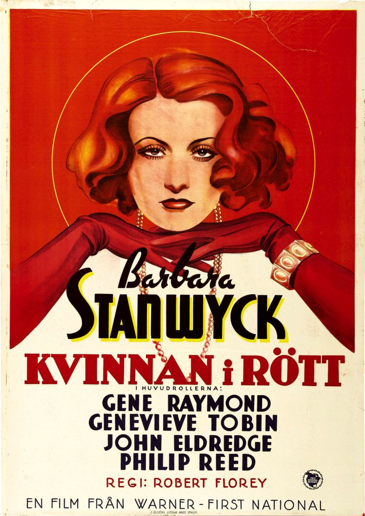Swedish poster for The Woman in Red
