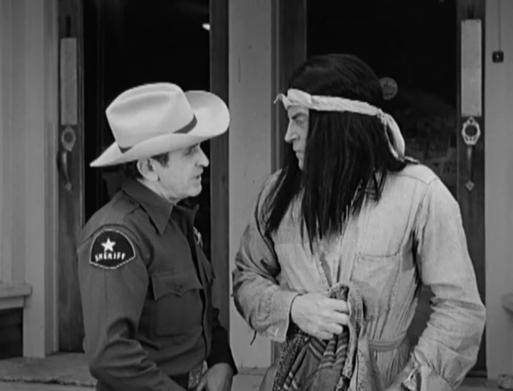 "The sheriff and ""Indian Joe"" have a bit of a showdown. (Screen capture by Lindsey for TMP)"