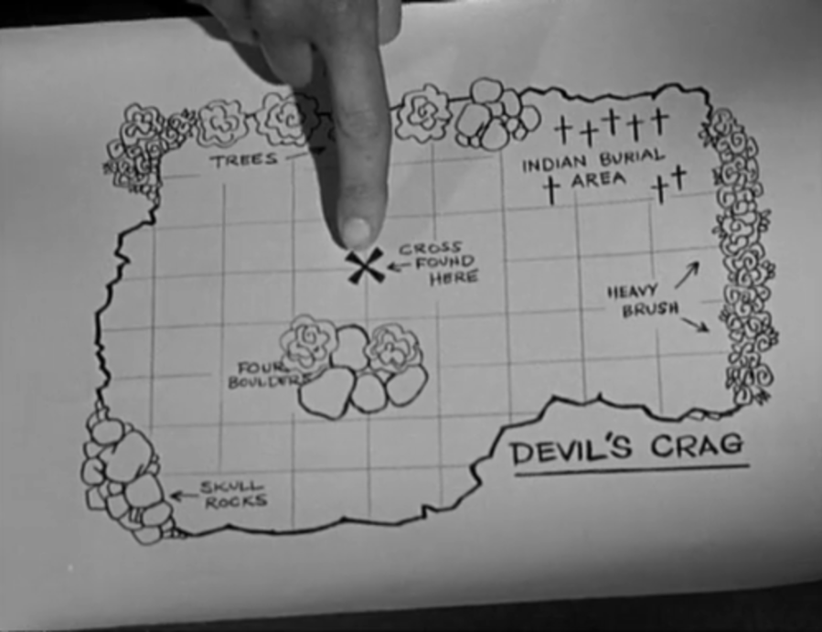 Wayne has made a brilliant map of the archaeological site. (Screen capture by Lindsey for TMP)
