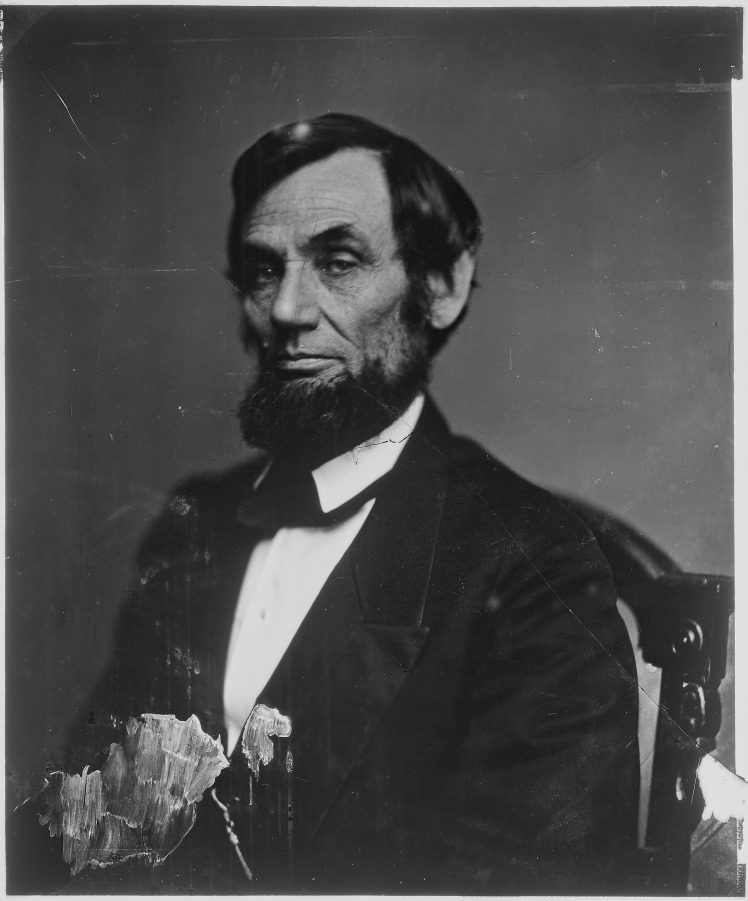 The real Abe, courtesy of Wikimedia Commons