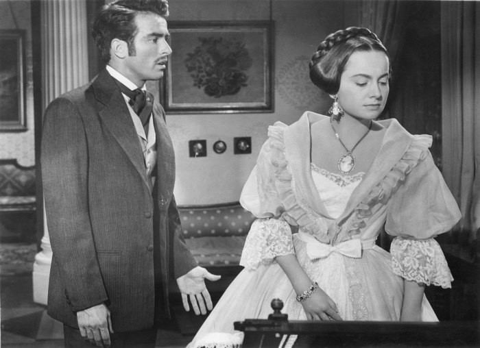 Monty Clift and Olivia de Havilland in The Heiress (via The Redlist)