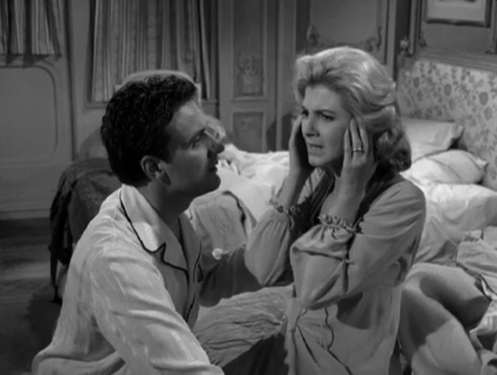 Now married, Grace is comforted by her husband when she has another episode of panic aboard the ship. (Screen capture by Lindsey for TMP)