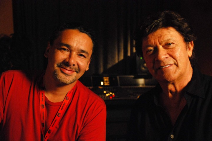 Director Neil Diamond with singer/songwriter Robbie Robertson, who has worked on films like Shutter Island and Raging Bull. (Image: imamuseum.org)
