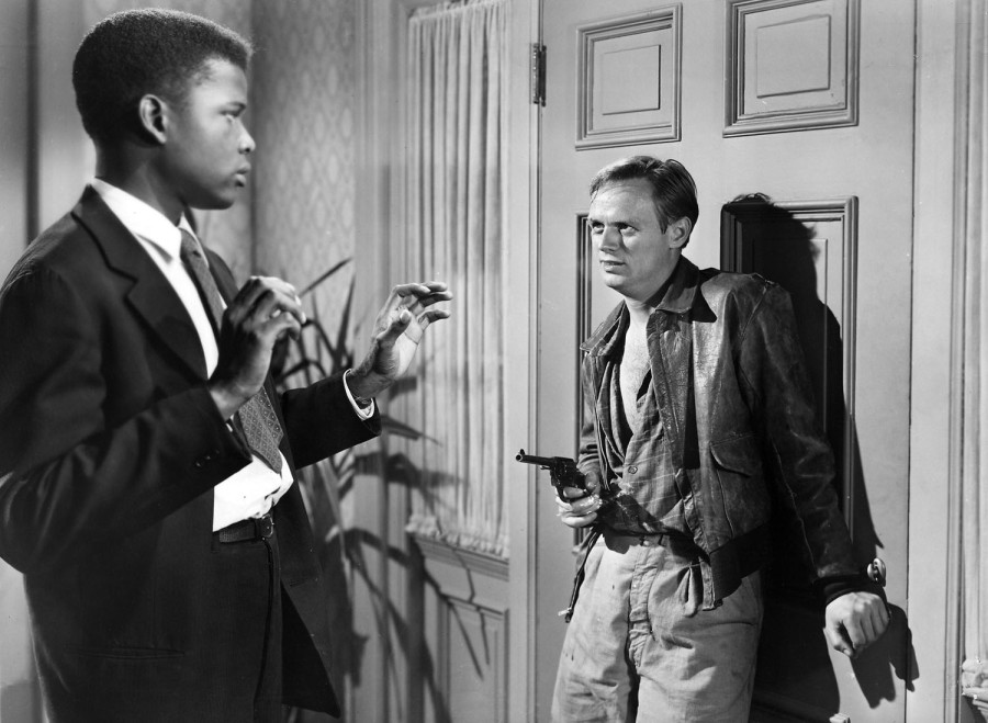 Sidney Poitier and Richard Widmark in No Way Out (Image: Alt Film Guide)
