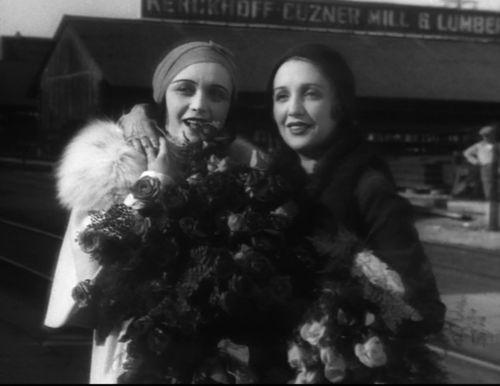 "Oliver's characters bring to mind the stars of the past, like Pola Negri and Bebe Daniels, pictured here in a still from ""Screen Snapshots."" (Screen capture by Lindsey)"