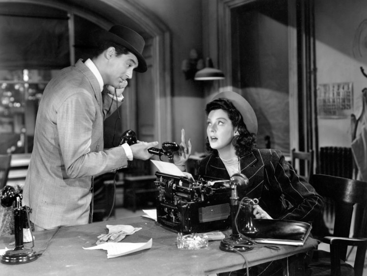 Cary and Roz for His Girl Friday (Image: Oscars.org)