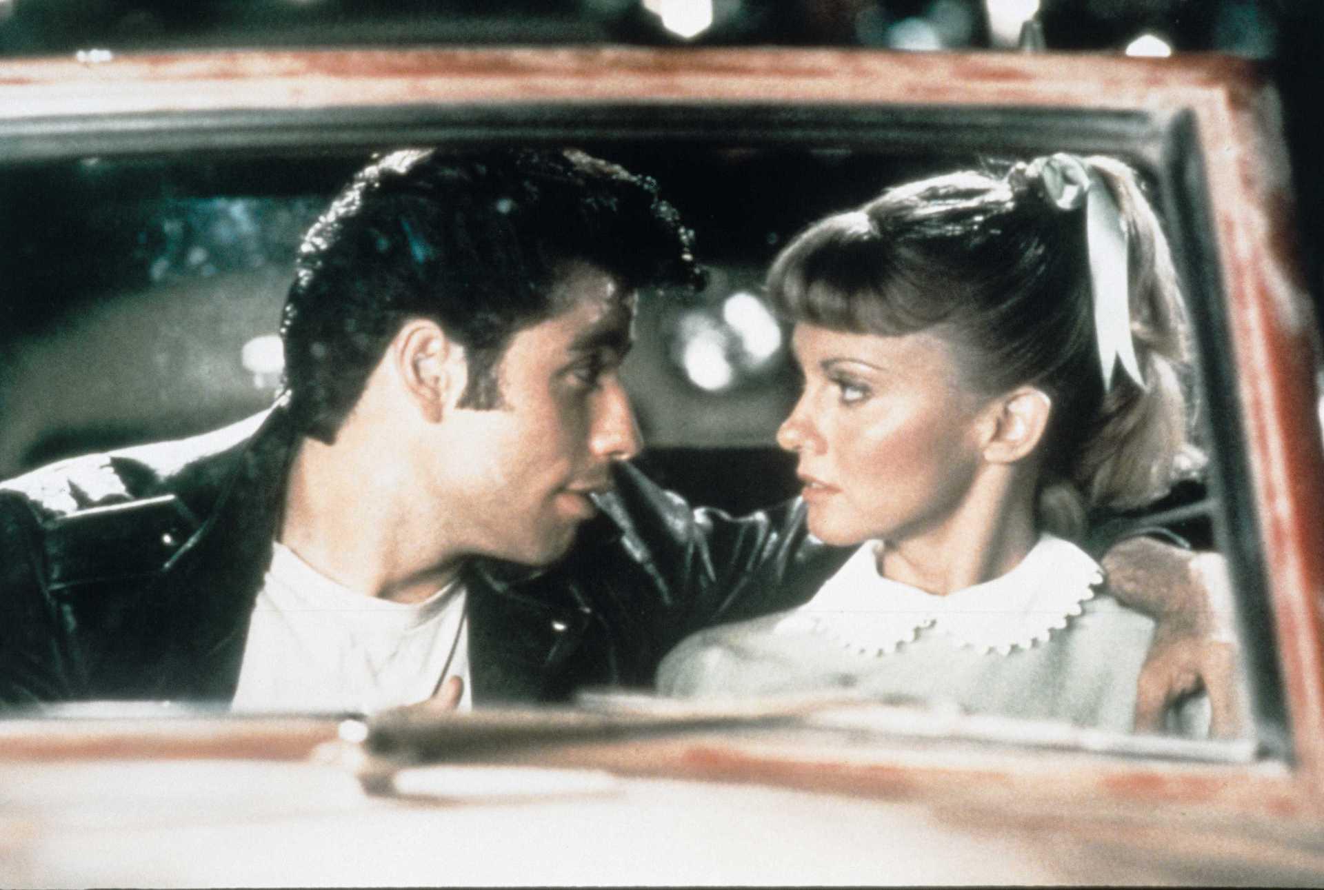 John travolta in the movie grease