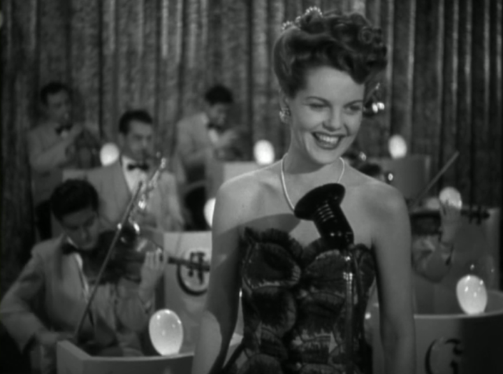 Ruth Terry as Carol, in her first performance with the band (Screen capture by Lindsey for TMP)