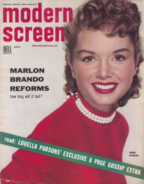Nov. 1954 Modern Screen cover (Scanned by Lindsey for TMP - Don't steal me!)