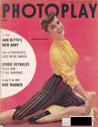 Debbie's Photoplay cover in the same month. (Scanned by Lindsey for TMP - Don't steal me!)
