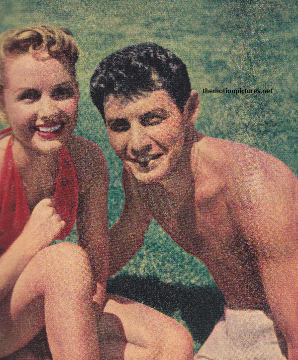 This beautiful photo of Debbie and Eddie accompanies the Modern Screen article. (Scanned by Lindsey for TMP - Don't steal me!)