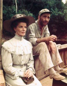 Katharine and Bogie for The African Queen (Image: prodeoetpatria.wordpress)