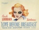 Carole Lombard Glamour Collection: Love Before Breakfast (1936)