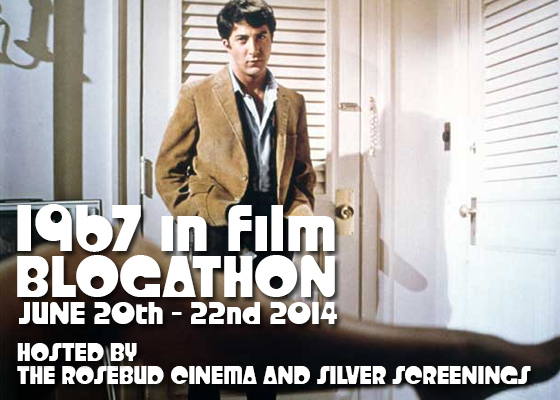 For the 1967 in Film Blogathon, I'll be sneaking a peek at DAVID HOLZMAN'S DIARY on June 21.