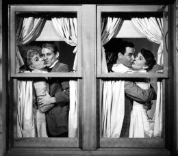 Leigh, Bob Fosse, Jack Lemmon and Betty Garrett for My Sister Eileen (Image: A Certain Cinema)
