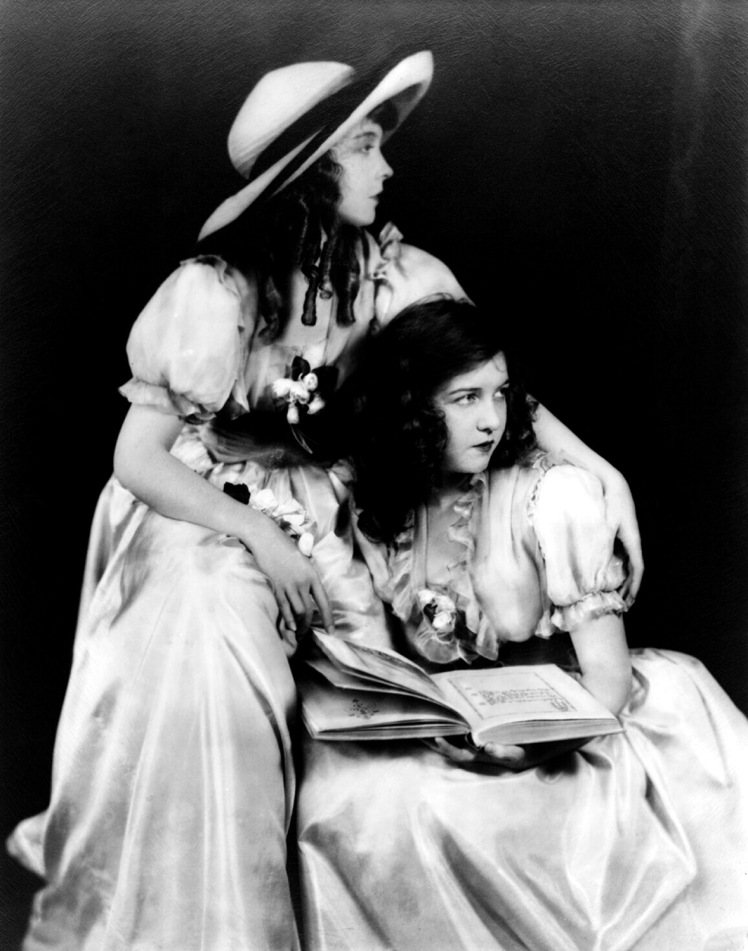 Lillian and Dorothy Gish for Orphans of the Storm, via Doctor Macro