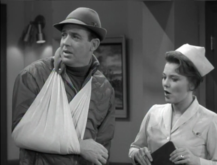 """Jerry and Rob are both injured in a """"four-person pile up"""" on the slopes. (Screen capture by Lindsey for TMP)"""