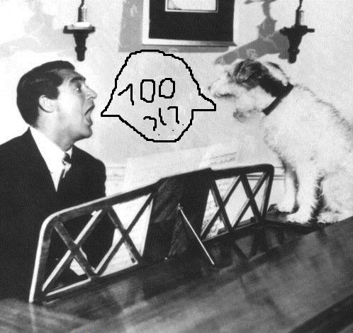 Cary Grant & the pup are sharing my excitement over TMP reaching 700 posts!