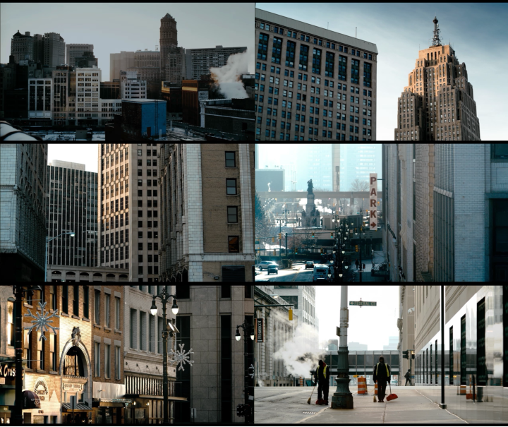 A collection of beautiful shots of Detroit from the film's opening sequence (Screen captures by Lindsey for TMP)