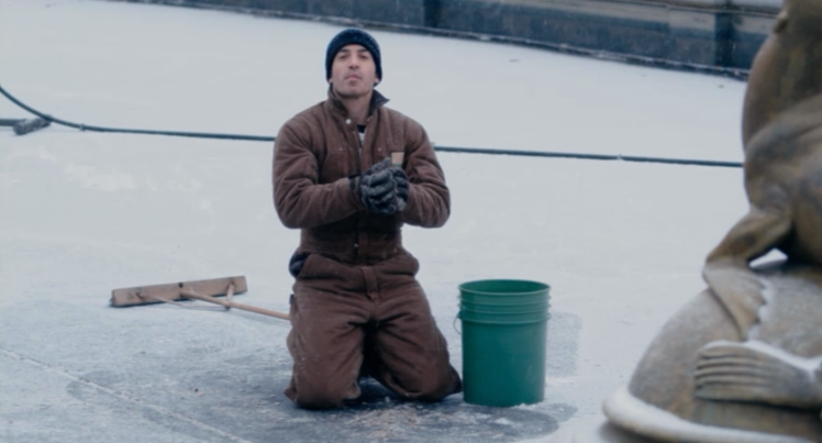 Chris Messina in a scene shot at the Detroit Zoo (Screen capture by Lindsey for TMP)