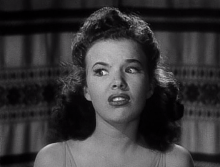 Based on this expression it seems Gale Storm feels the same way about Tad and the gang as I do. (Screen capture by Lindsey for TMP)