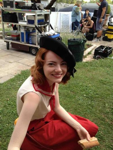 Emma Stone in costume for Woody Allen's Magic in the Moonlight (Image via Film Affinity)