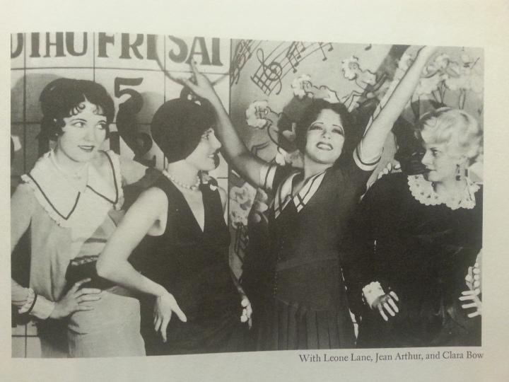 Photo from The Saturday Night Kid. Harlow poses with Clara Bow, Jean Arthur and Leone Lane. (Photo by Lindsey for TMP)