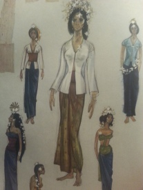Gorgeous costume sketches (Photo by Lindsey for TMP)
