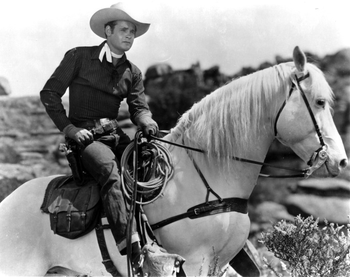 """""""Sunset Carson"""" starred in a long series of Westerns. (Image via A Drifting Cowboy)"""