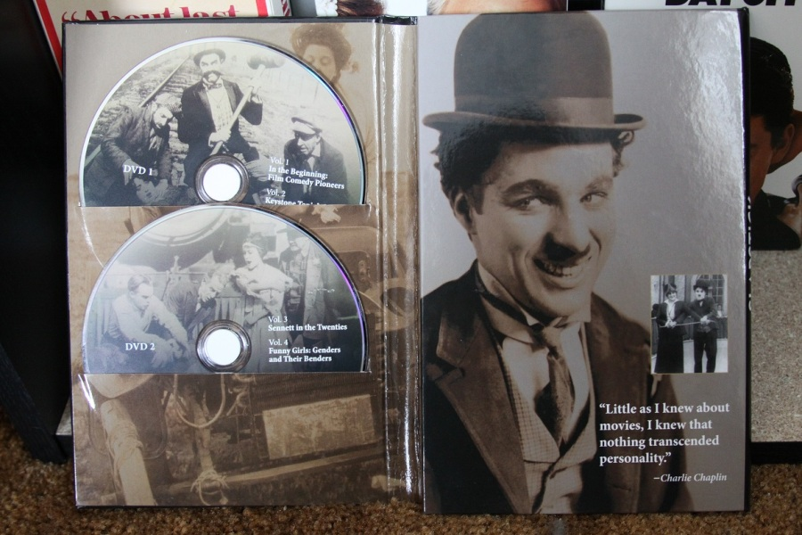 Chaplin photos and a quote adorn the inside flip of the packaging. (Photo by Lindsey for TMP)