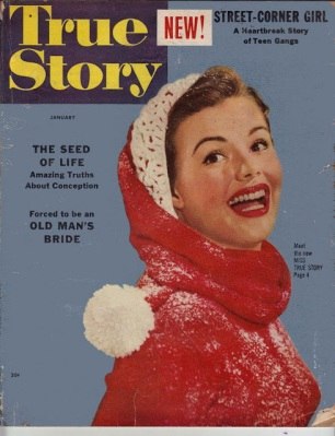Cover of True Story, The cover of True Story, January 1954 (via the Really Big Vintage Junk Drawer)