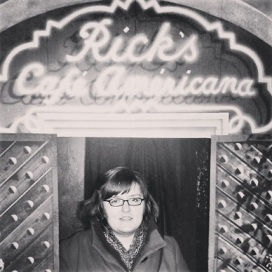 Since Cary Grant has not yet returned from the grave to be my suitor, I steered clear of the kissing booth and instead visited Rick's Cafe.