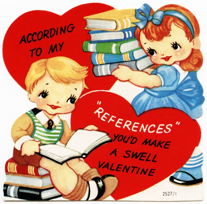 And finally, my personal favorite... the nerdy library/book valentine! (Image via olddesignshop.com)