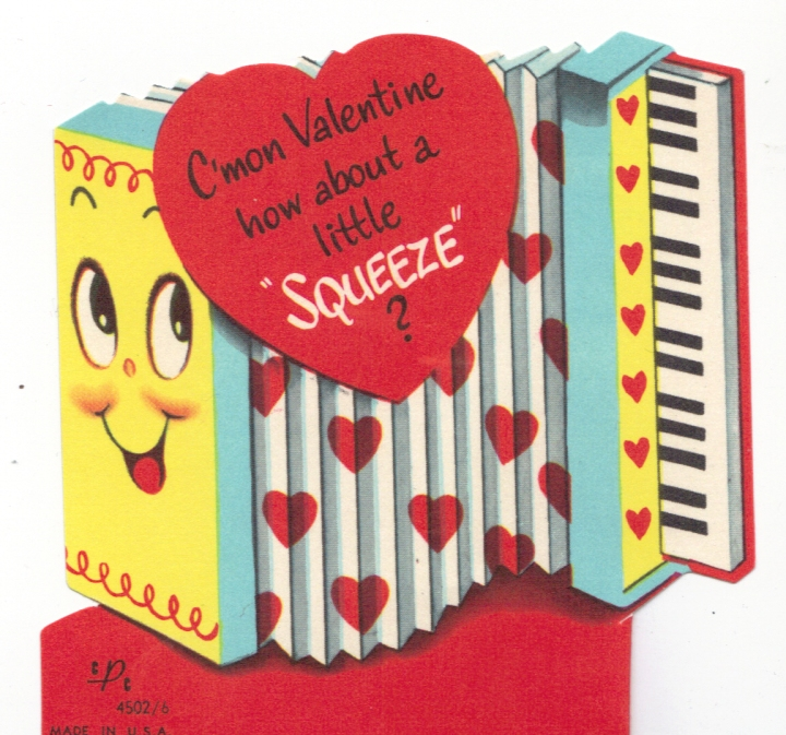 Perfect for all of your suitors who happen to be members of accordion quartets. (Image via slowfamilyonline.com)