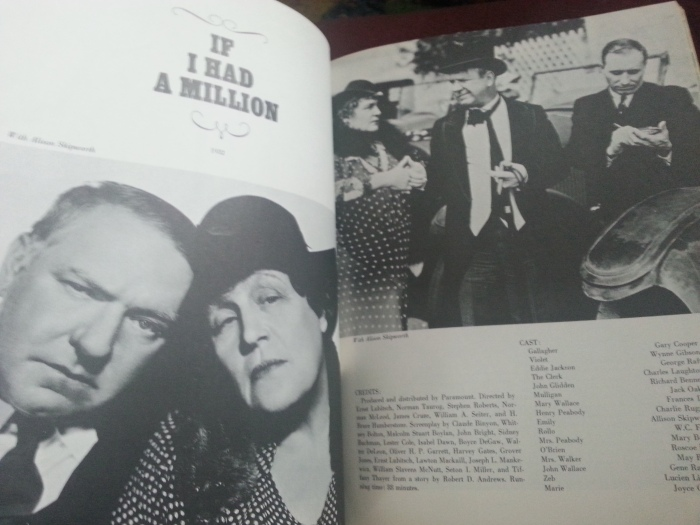From the filmography section of the book (Photo by Lindsey for TMP)