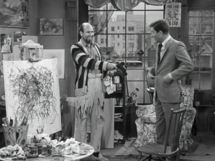 Rob visits Serge to get the painting back (Screen capture by Lindsey for TMP)