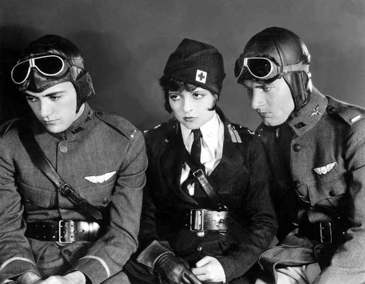 , Clara Bow and for Wings (Image via Doctor Macro's High Quality Movie Scans)