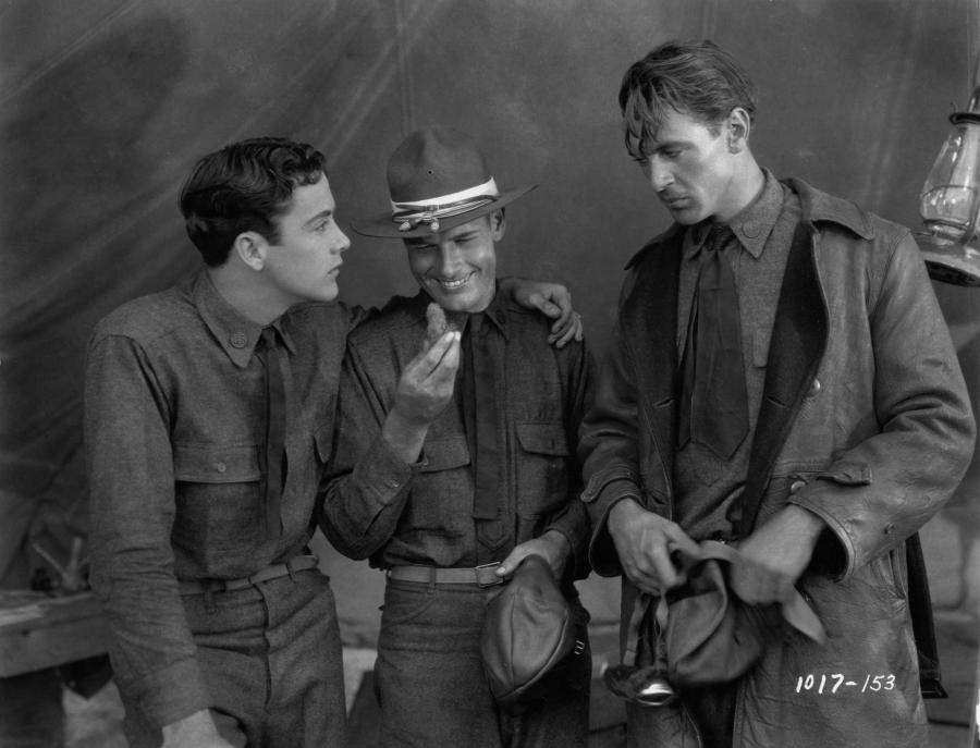 Buddy Rogers, Richard Arlen and Gary Cooper for Wings (Image via Movpins)