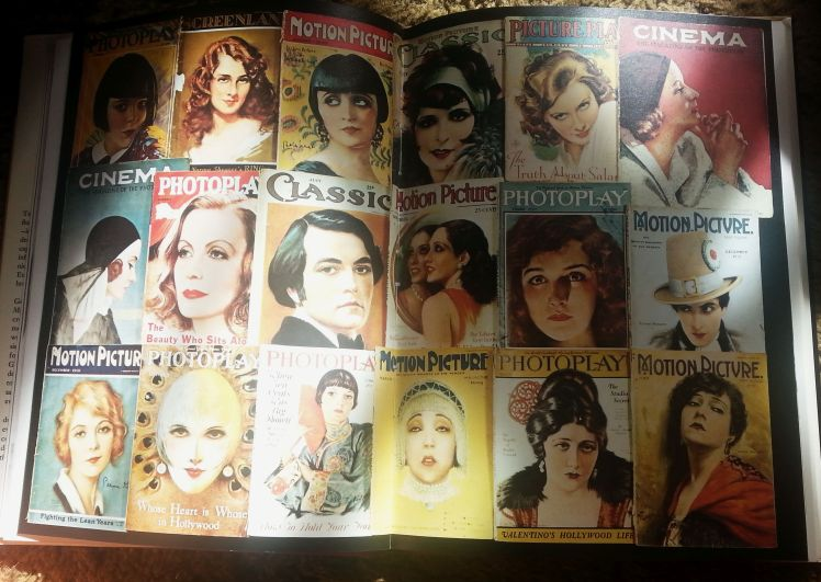 A collage of vintage movie magazine covers (Photo by Lindsey for TMP)