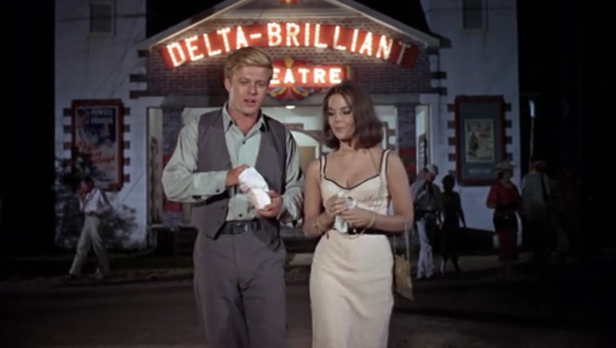 Redford and Wood share a tragic romance in This Property is Condemned (Screen capture by Lindsey for TMP)