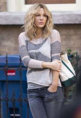 Kate Beckinsale on the set of The Disappointments Room (Image via Got Celeb)
