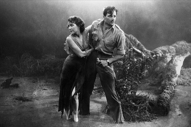 Fay Wray as Eve and Joel McCrea as Rainsford (Image via fan.tcm.com)