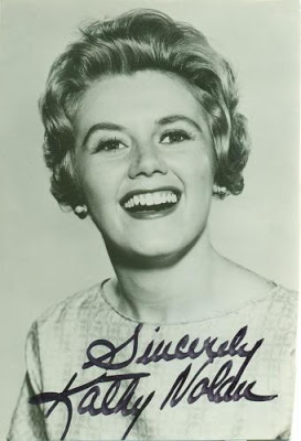 Signed head shot of Kathy Nolan (Image via hallk.blogspot.com)