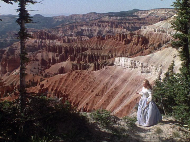 Deanna Durbin enjoys the scenery while traveling Westward in Can't Help Singing (Screen capture by Lindsey for TMP)