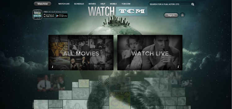 I never remember to tape or tune in for everything I want to see on TCM, so WatchTCM has become one of my favorite ways to discover movies. (Screenshot by Lindsey for TMP)