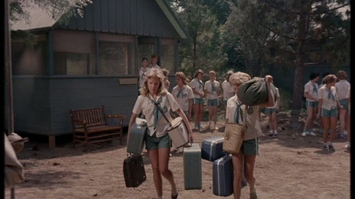 Twins go to camp in The Parent Trap (Image via Pinterest)