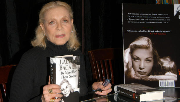 Bacall at a signing of By Myself and Then Some (Image via CBS)