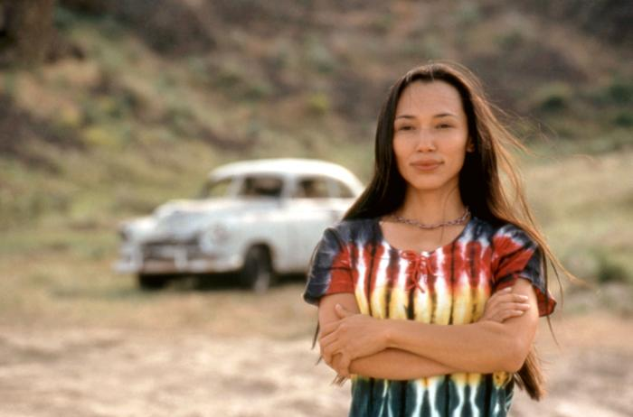 Irene Bedard in Smoke Signals (Image via Indian Country Times Media Network)